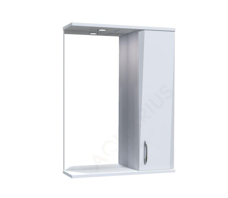 Зеркало Аквариус Жако со шкафчиком и подсветкой 55 см