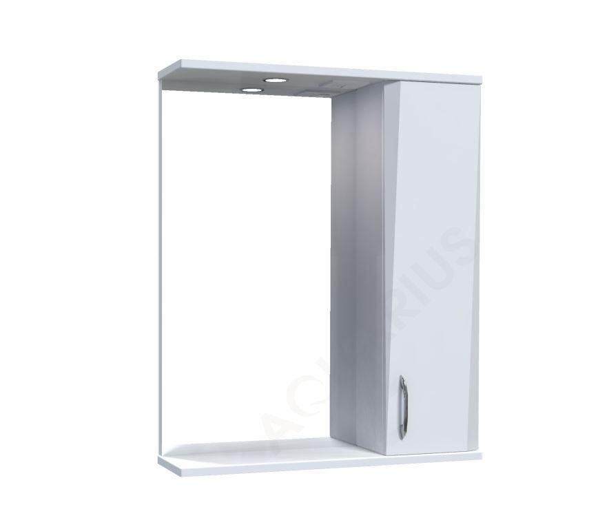 Зеркало Аквариус Жако со шкафчиком и подсветкой 60 см