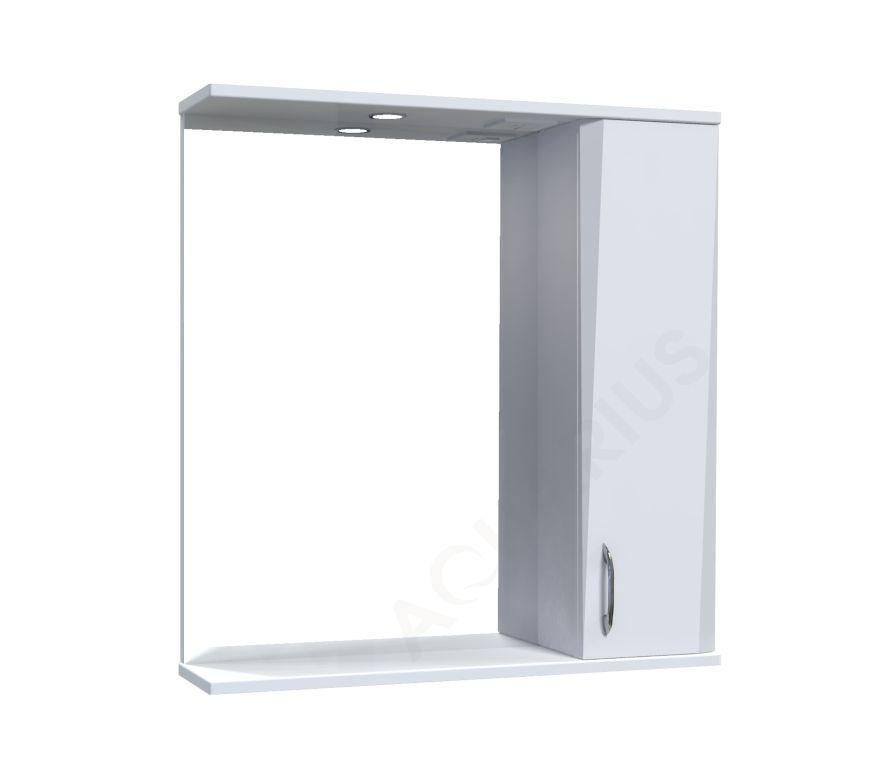 Зеркало Аквариус Жако со шкафчиком и подсветкой 70 см