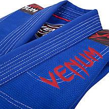 Детское кимоно для джиу-джитсу Venum Challenger 2.0 Kids BJJ GI Blue, фото 2