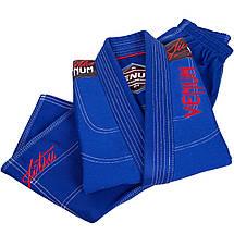 Детское кимоно для джиу-джитсу Venum Challenger 2.0 Kids BJJ GI Blue, фото 3