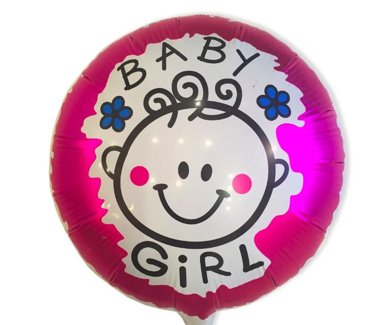 Фольгированный шар Круг BABY GIRL 45см х 45см 401534