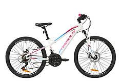 """Велосипед AL 24"""" Formula BLACKWOOD 1.0 AM DD 2020 (бело-фиолетовый с голубым (м))"""