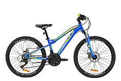 """Велосипед AL 24"""" Formula BLACKWOOD 1.0 AM DD 2020 (сине-желто-салатовый)"""