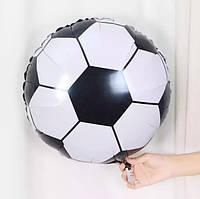 Фольгированный шар Круг FOOTBALL 45см х 45см 401506