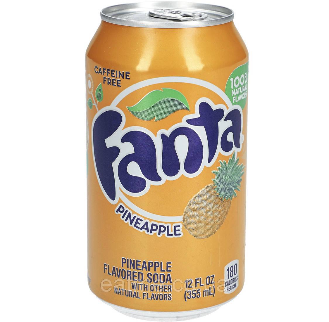 Fanta Pineapple USA Газированный напиток со вкусом ананаса