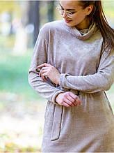 Очень мягкое плюшевое платье из велюра