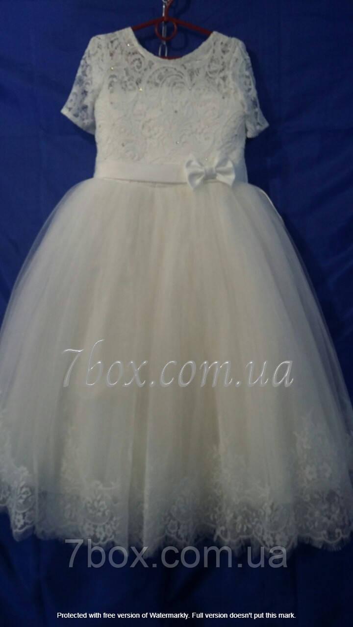 Детское платье бальное Изящное 8-9 лет Молочное Опт и Розница
