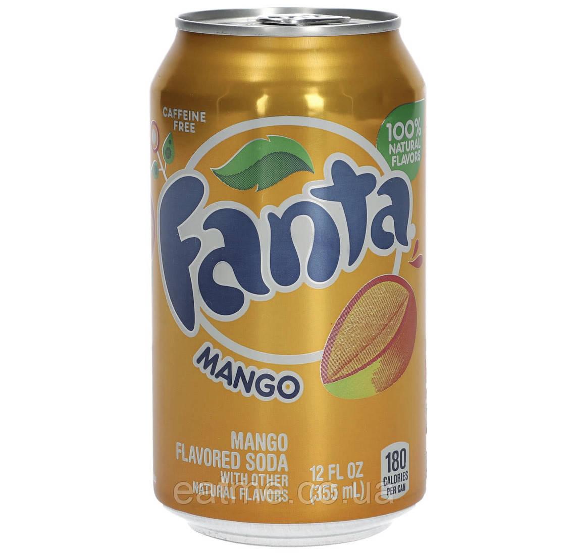 Fanta Mango USA Газированный напиток со вкусом манго