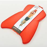 Доска для плавания SPEEDO ELITE KICK BOARD (EVA, р-р 43x34x3см, красный)