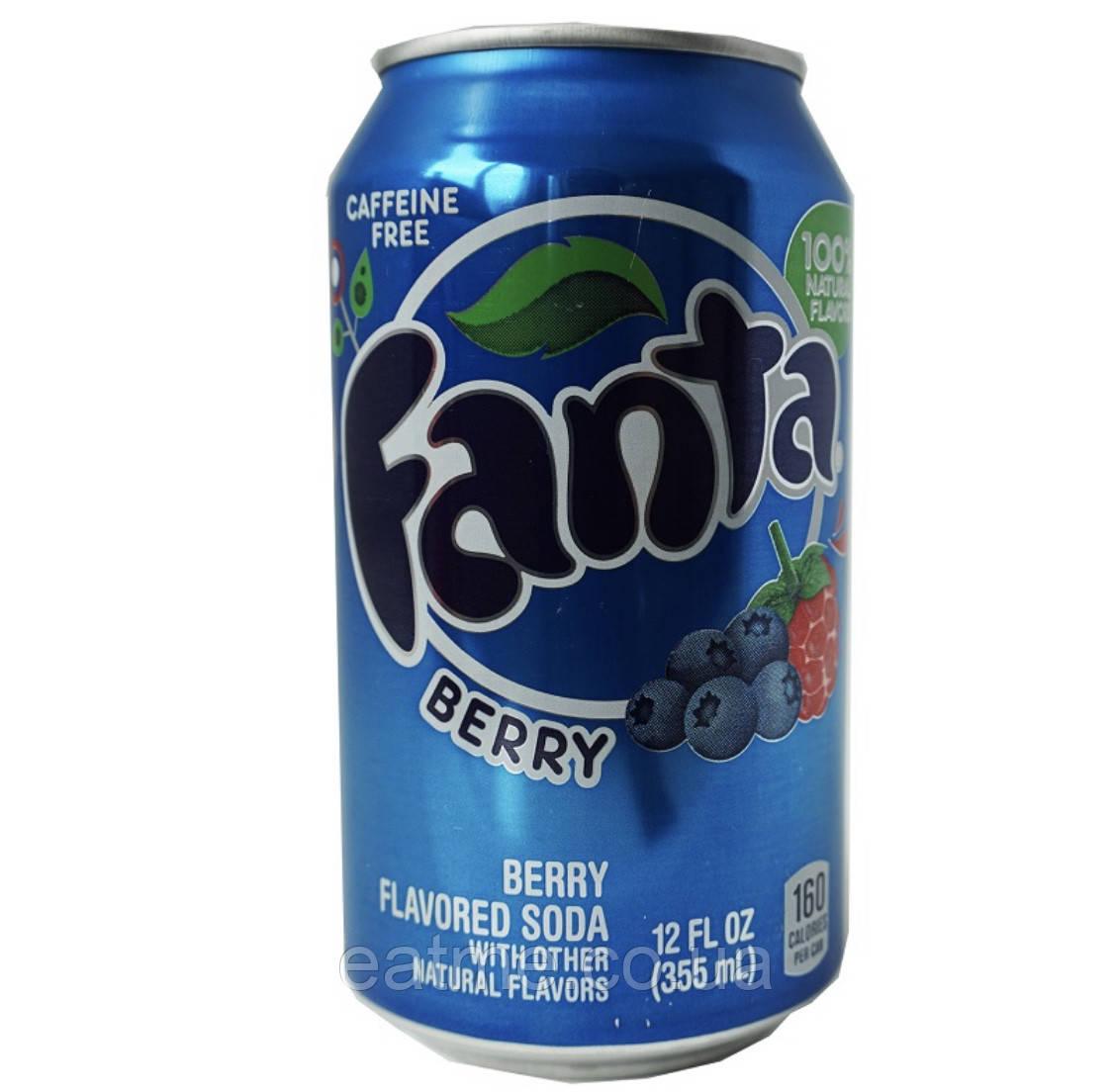 Fanta Berry USA Газированный напиток со вкусом лесных ягод