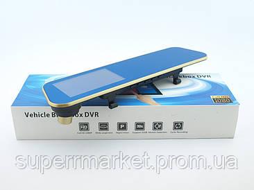 Vehicle Blackbox DVR видеорегистратор 303,с камерой заднего вида, золотой