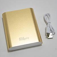 🔝 Пауэр банк, Xiaomi power bank, MiPro 2173, 10400 mAh, Gold, мощный повербанк для телефона  | 🎁%🚚