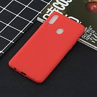 Чехол Soft Touch для Samsung Galaxy A10s (A107) силикон бампер красный