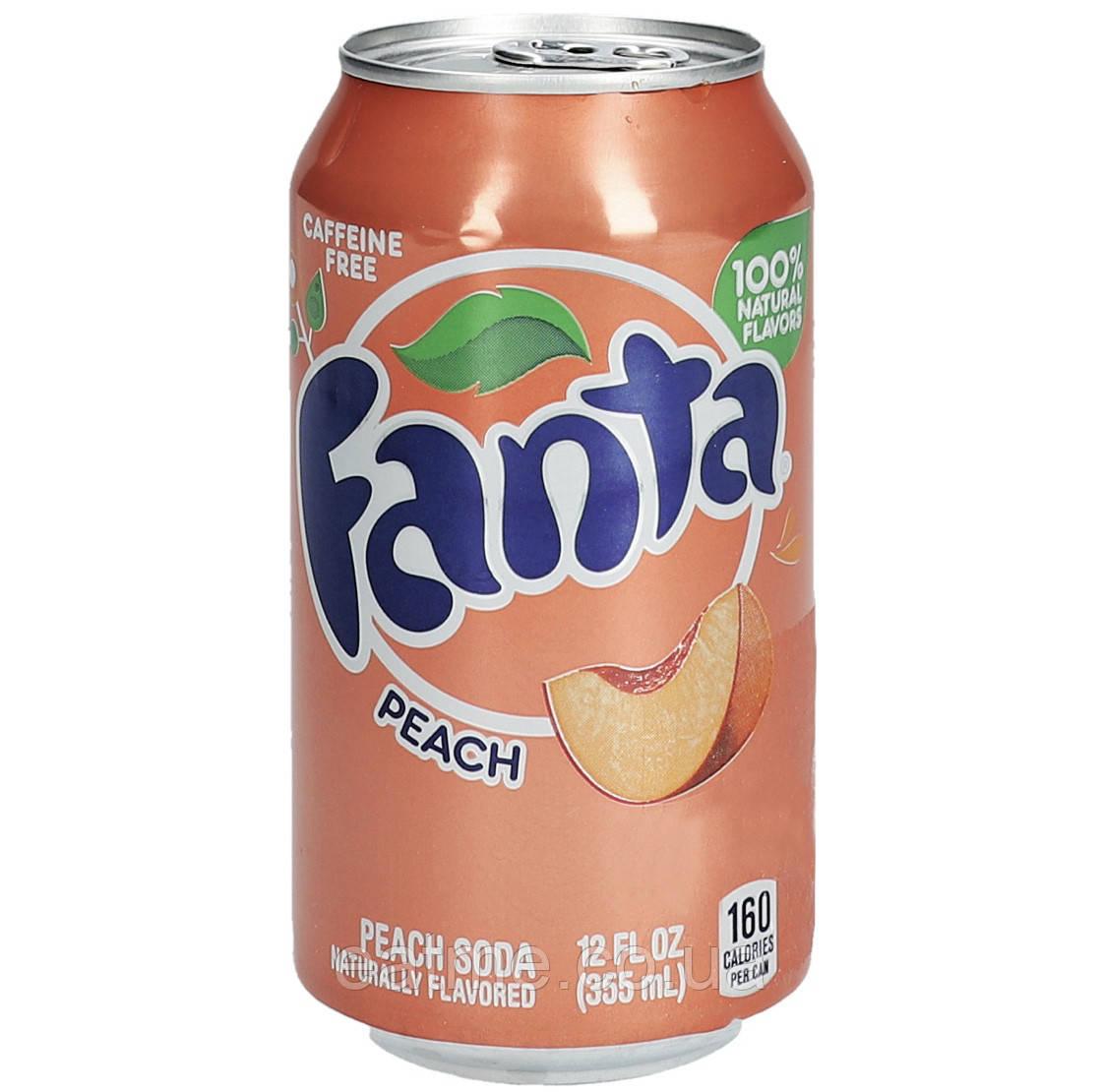 Fanta Peach USA Газированный напиток со вкусом персика