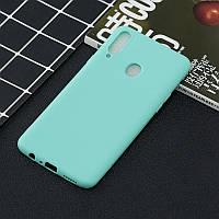 Чехол Soft Touch для Samsung Galaxy A10s (A107) силикон бампер мятно-голубой