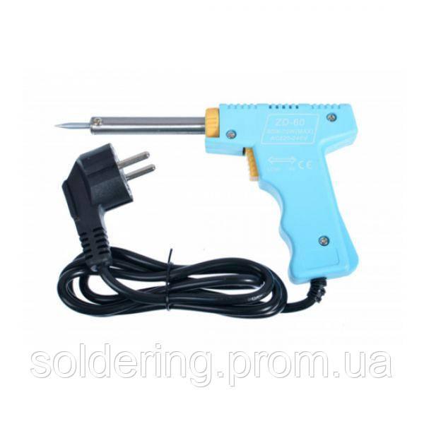Паяльник-пистолет Zhongdi ZD-60 30/70 Вт