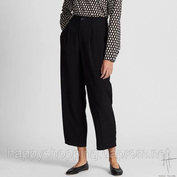 Женские черные укороченые брюки Uniqlo + Hana Tajima (Размер - S)