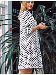 Платье свободного фасона в горох, фото 3