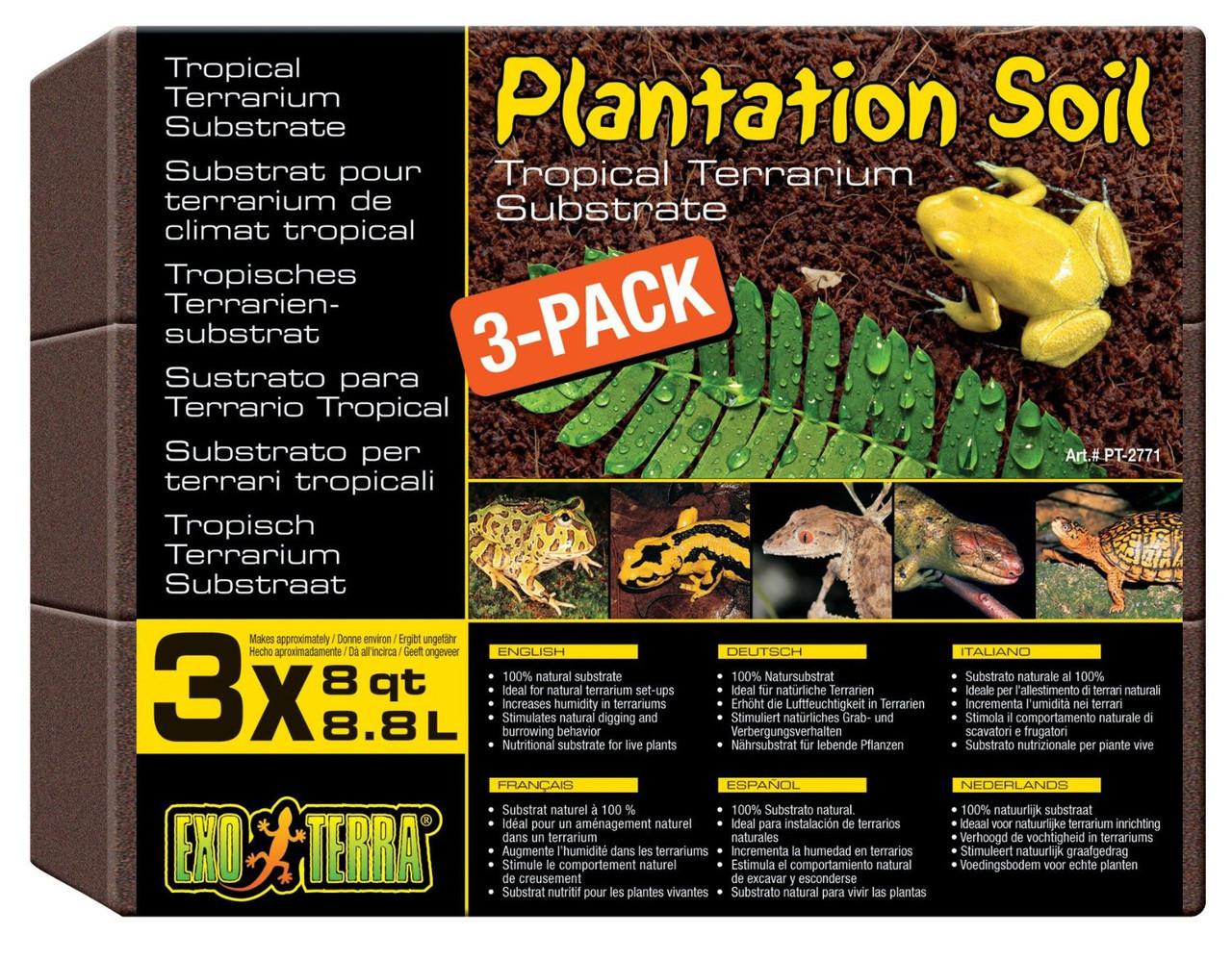 Наполнитель субстрат Plantation Soil для террариума 3х8,8л  (PT2771)