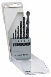 Сверла HSS-R 6 шт 2-8мм Bosch 2607018352