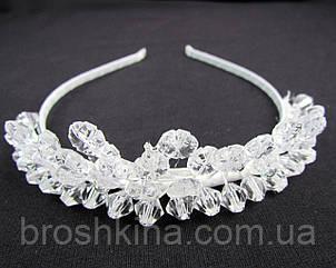 Корона из кристаллов белая высота 4.5 см