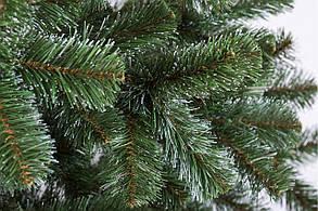 """Новорічна ялинка """"Казка"""" зелена з білими кінчиками 1.3 м, фото 2"""