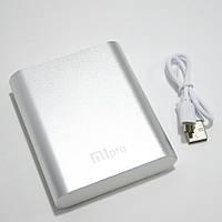 🔝 Пауэр банк, Xiaomi power bank, MiPro 2173, 10400 mAh, Silver, мощный повербанк для телефона  | 🎁%🚚