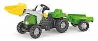 Трактор педальный с прицепом и ковшом Rolly Toys 2-5 лет до 30 кг (023134)