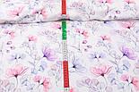 """Корейский хлопок """"Стеклянные цветы"""", ширина 110 см, фото 2"""