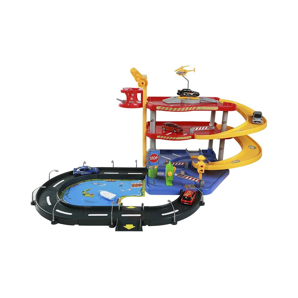 Игровой набор Гараж ( 3 уровня, 2 машинки , 1:43 ) Bburago Street Fire Parking Playset 18-30025
