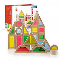 Набор уменьшенных блоков Guidecraft Block Play Маленькая радуга, 40 шт. (G3083)
