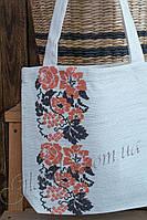 Льняная сумка с вышитым орнаментом АРТ №14-04