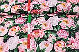 """Корейский хлопок """"Розовые пионы"""", ширина 110 см, фото 2"""