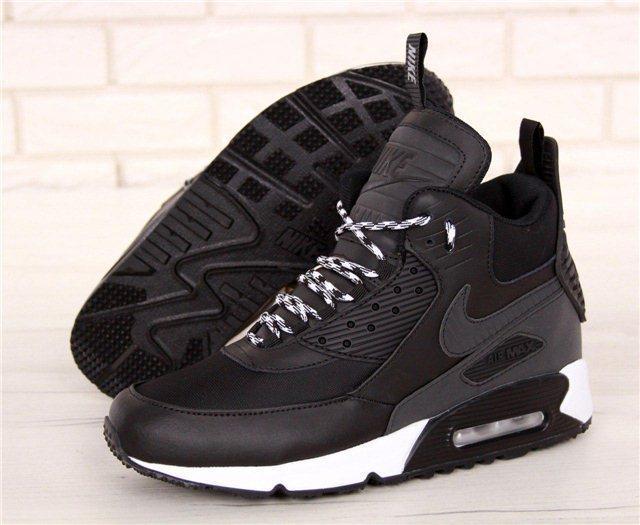 Кроссовки мужские Nike Air Max 90 Sneakerboot Winter 30995 черные