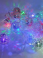 """Гирлянда новогодняя электрическая Abeer LED """" Шарики Декоративные """" Серебристый, фото 1"""