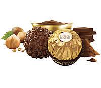 Ferrero Rocher Знаменитые любимые конфеты с шоколадно-ореховой начинкой в дроблённом фундуке, фото 2