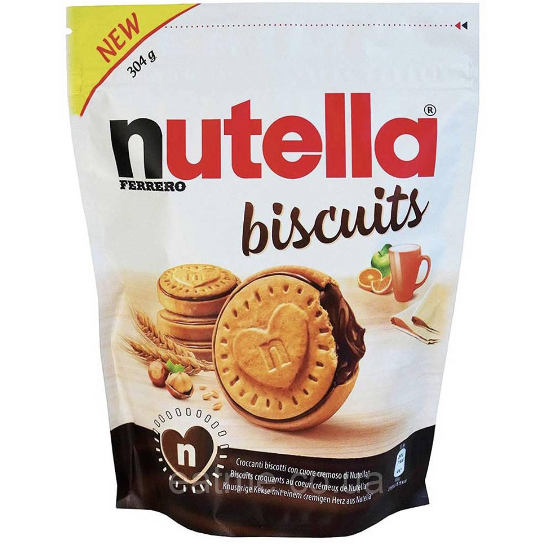 Nutella Biscuits Печенье с шоколадно-ореховой начинкой