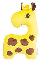 """Подушка-98 детский подголовник """"Жираф"""", в сумке 35*24см, Тигрес, ПД-0098"""