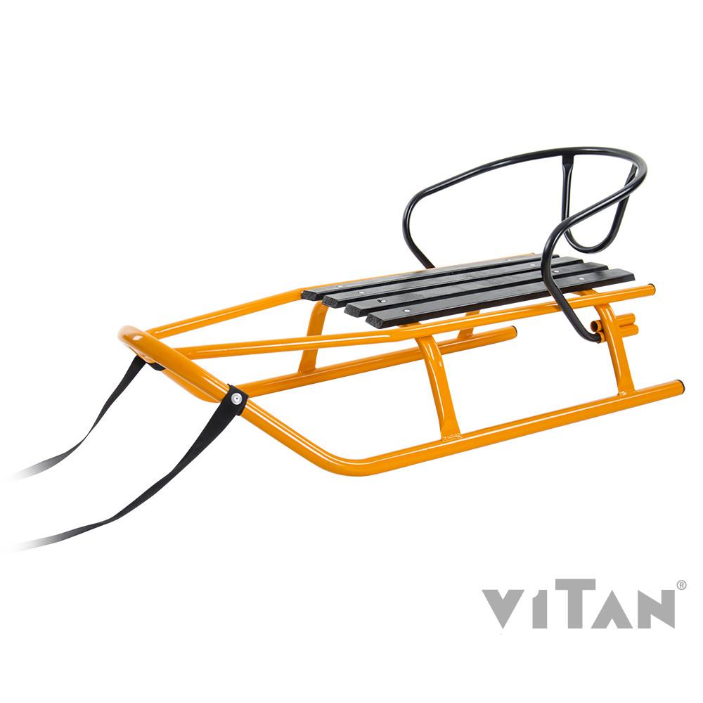 """Санки Vitan """"Шершень"""" + тяг. ремень 2,5м, спинка; до 80кг, 2030056"""