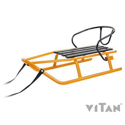 """Санки Vitan """"Шершень"""" + тяг. ремень 2,5м, спинка; до 80кг, 2030056, фото 2"""