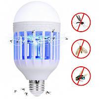 Экономичная лампа Zapp Light убийца комаров. Светодиодная лампа против насекомых