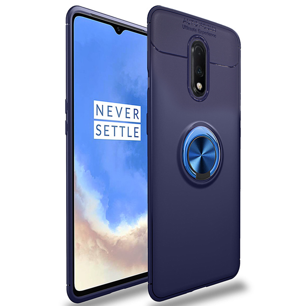 ✬Силіконовий чохол-накладка C-KU SM02 Blue для смартфона OnePlus 7 магнітний тримач захисний з підставкою
