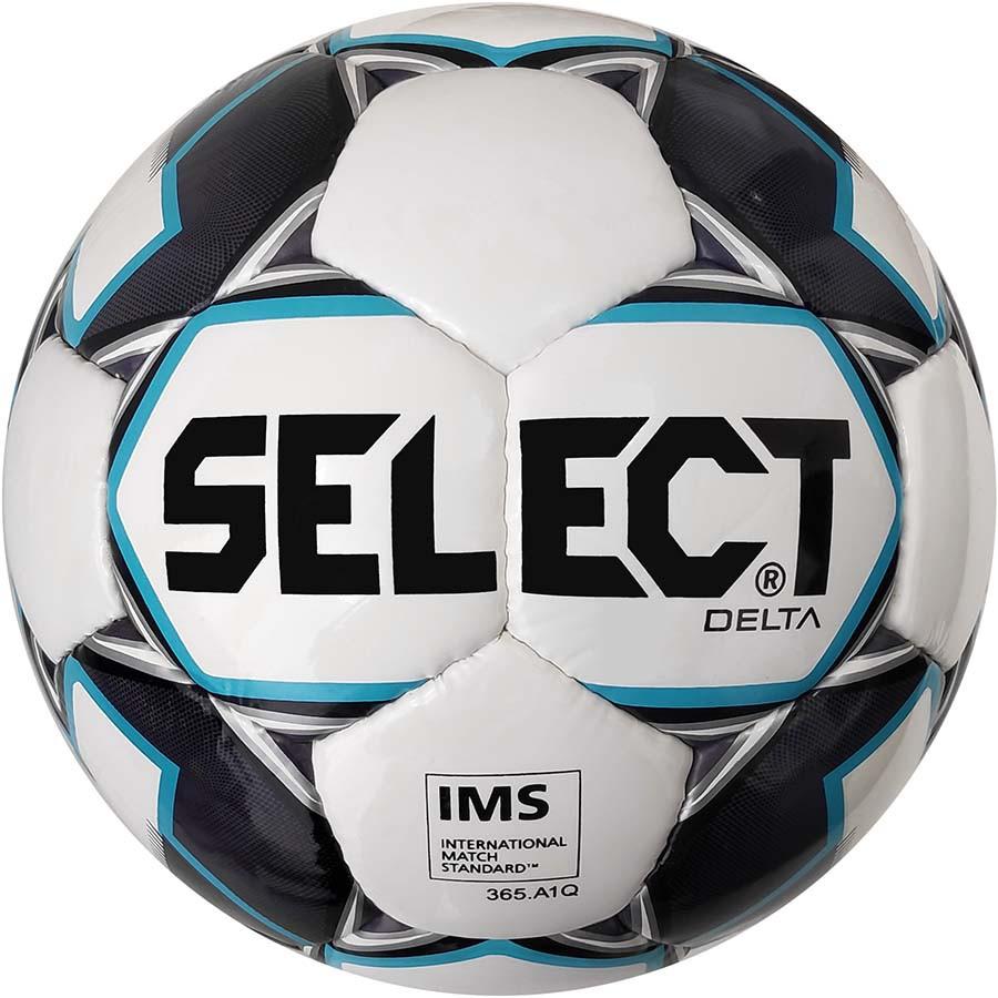 Мяч футбольный SELECT Delta IMS (015) бел/сер размер 5 (0855846009)