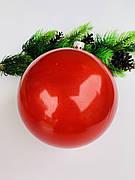 Ялинкова куля. Великий,червоний куля на ялинку(15 см)