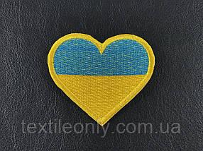 Нашивка Сердце Украина 60х54 мм
