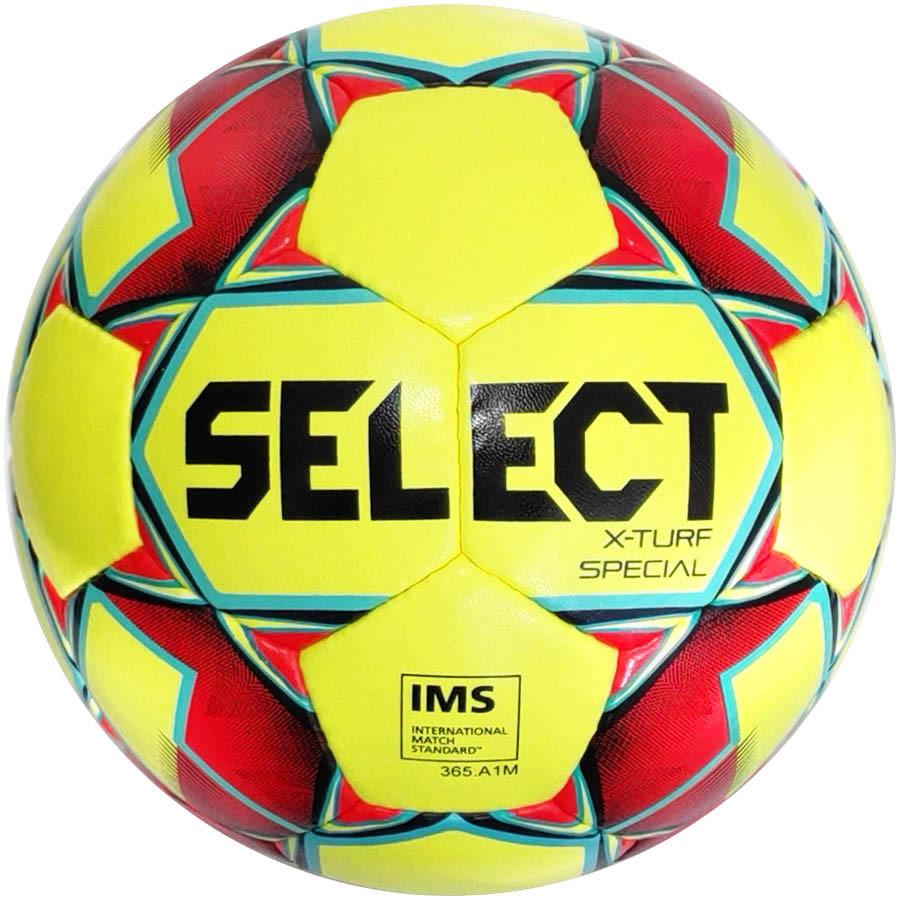 Мяч футбольный SELECT X TURF SPECIAL IMS (018) желт/красн р.5 (3865146156)