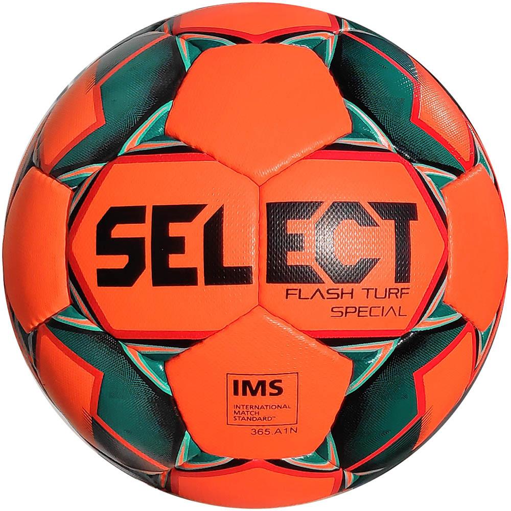 Мяч футбольный SELECT Flash Turf Special (012) оранж/черн р.5 (3875046155)