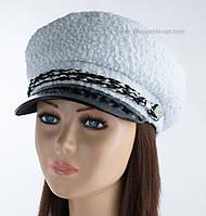 Оригинальная женская кепка Симона КК мерлушка сутаж иней