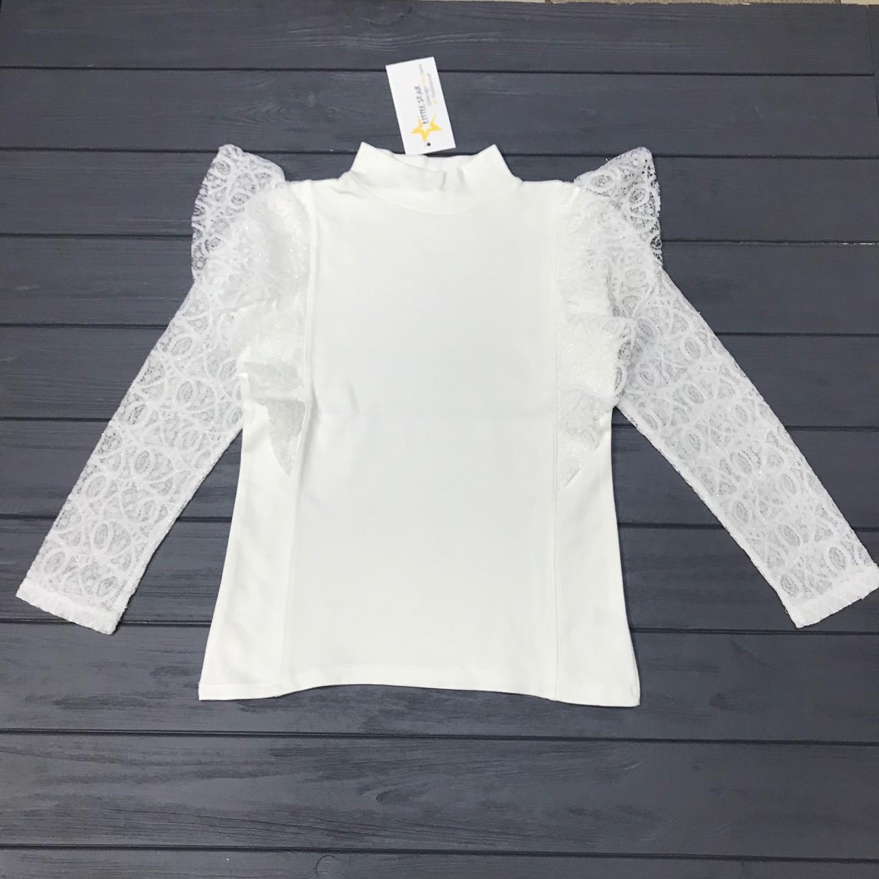 Блуза нарядная Little Star для девочек оптом р.6-8-10 лет